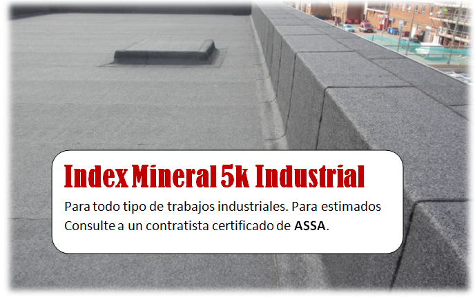 Sellado industrial de techo con mineral index